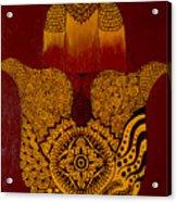 Hamsa- Brown Acrylic Print