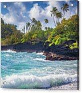 Hana Bay Waves Acrylic Print