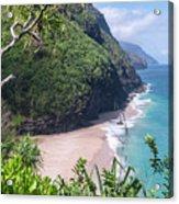 Hanakapiai Beach - Kalalau Trail - Kauai Hawaii Acrylic Print