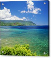 Hanalei Bay And Bali Hai Acrylic Print