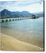 Hanalei Bay And Pier Acrylic Print