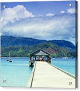 Hanalei Bay And Pier Acrylic Print