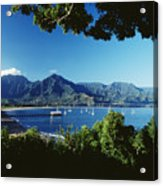 Hanalei Bay Boats Acrylic Print