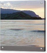 Hanalei Bay Evening Acrylic Print