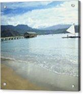 Hanalei Bay Outrigger Acrylic Print