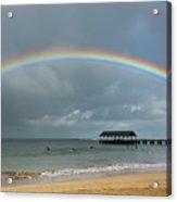 Hanalei Bay Rainbow Acrylic Print