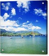 Hanalei Bay With Pier Acrylic Print