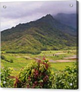 Hanalei Valley Panorama Acrylic Print