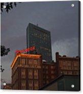 Hancock Over The Lenox Boston, Ma Acrylic Print
