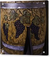 Hand Carved Wine Barrel Acrylic Print