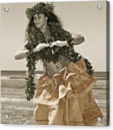 Hand Colored Hula Acrylic Print