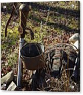 Hand Pump In The Fall Acrylic Print