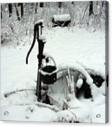 Hand Pump In The Winter Acrylic Print
