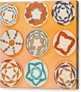 Native American Woven Straw Art Acrylic Print