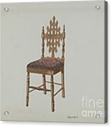 Handcarved Side Chair Acrylic Print