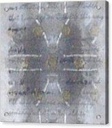Handmade Paper Never Sent Acrylic Print