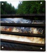 Handrails Tahquamenon Lower Falls Upper Peninsula Michigan 02 Acrylic Print