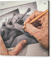 Hands Drawing Hands Acrylic Print