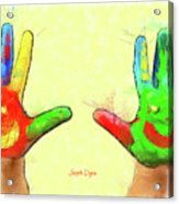 Hands In Art Acrylic Print