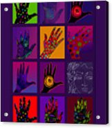 Hands Poster Acrylic Print by Lydia L Kramer