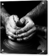 Hands That Form Acrylic Print