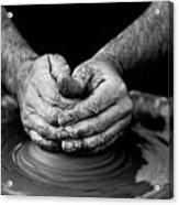 Hands That Shape Acrylic Print