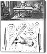 Handwriting, 18th Century Acrylic Print