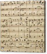 Handwritten Score Acrylic Print