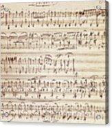 Handwritten Score For Waltz For Piano, Opus 39 Acrylic Print