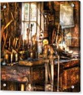 Handyman - Messy Workbench Acrylic Print