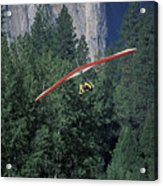 Hang Glider In Yosemite Acrylic Print