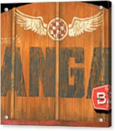 Hangar Bar Entrance Sign Acrylic Print
