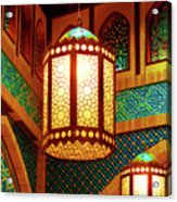 Hanging Lanterns Acrylic Print by Farah Faizal