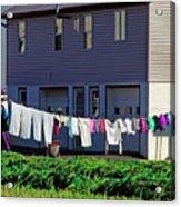 Hanging Laundry Acrylic Print