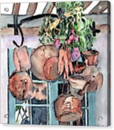 Hanging Pots And Pans Acrylic Print