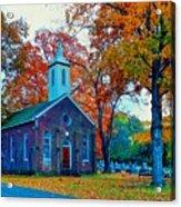 Hanover Church - Fall Acrylic Print