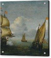 Hans Goderis Dutch Shipping At Sea, 1615 Acrylic Print