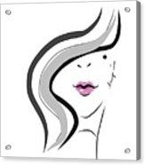 Hanyidesigns Beautiful Girl Acrylic Print