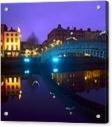 Hapenny Bridge, Dublin, Ireland Acrylic Print