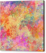 Happiness Abstract Painting Acrylic Print