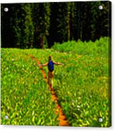 Happiness Is A Trail Acrylic Print