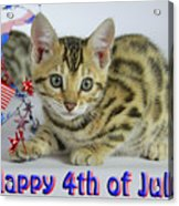 Happy 4th Of July Acrylic Print