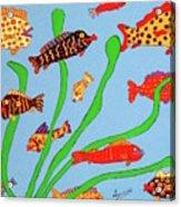 Happy Aquarium Acrylic Print
