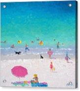 Happy Beach Days Acrylic Print
