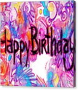 Happy Birthday Card Acrylic Print