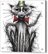 Happy Birthday Cat Acrylic Print