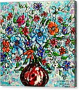 Happy Bouquet Acrylic Print