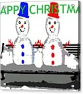 Happy Christmas 116 Acrylic Print