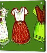 Happy Christmas Dresses Acrylic Print