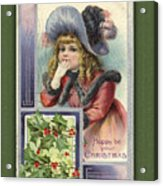 Happy Christmas Vintage Card  Acrylic Print